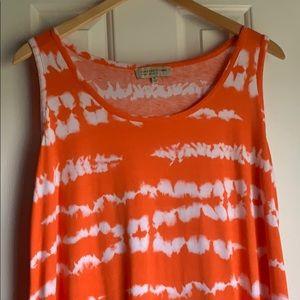 Jones New York Tie Dye Midi Sundress Plus Size 1X